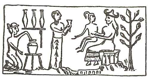 Ilustrace B - Ninharsag a stvoření pozemšťana